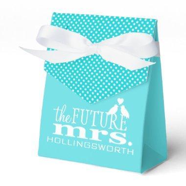 Blue The Future Mrs Bridal Shower Favor Box