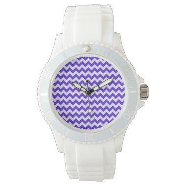 Blue Violet Chevron Wristwatch
