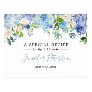 Blue Watercolor Floral  Recipe