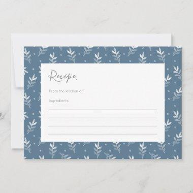 Blue Watercolor Leaves & Dots Pattern Recipe