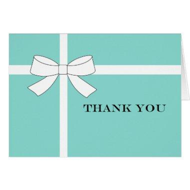 Blue & White Reception Party Thank You Note