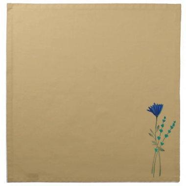 Blue Wild Flower Napkin