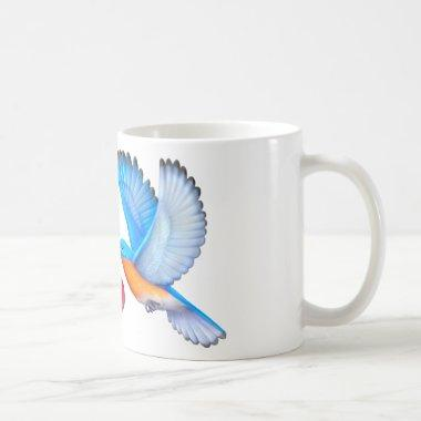 Bluebirds Love Happiness Coffee Mug