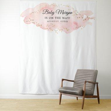 Blush and Gold Baby Shower Backdrop Photo Prop