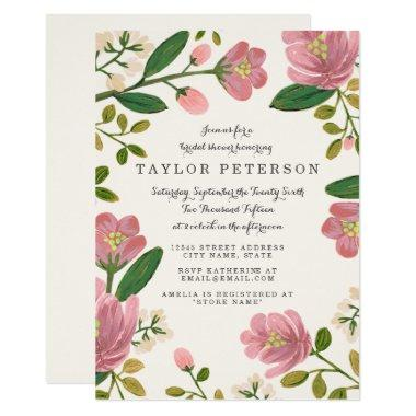 Blush Bouquet Bridal Shower Invitations