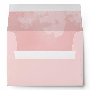 Blush Pink Floral Lined Envelope