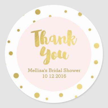 Blush Pink Gold Bridal Shower Thank You Favor Tags