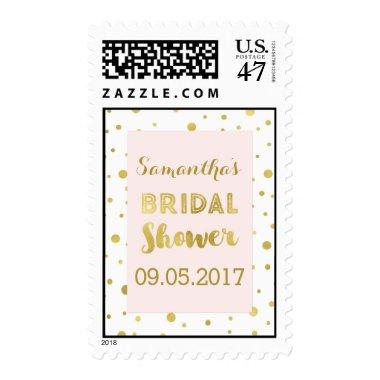 Blush Pink Gold Confetti  Stamp