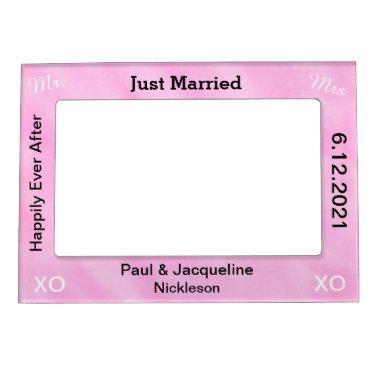 Blush Pink Just Married Wedding Frames