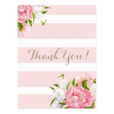 Blush Pink Peonie Floral Thank you post