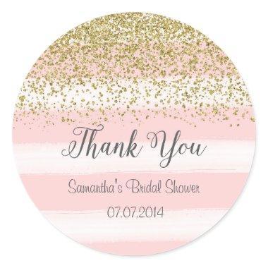 Blush Pink Stripes  Sticker