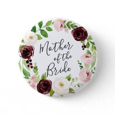 Blush Romance Mother of the Bride Button