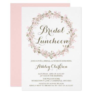 Blush Winter Wreath Bridal Luncheon