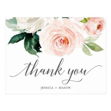 Blushing Blooms Floral Thank You PostInvitations