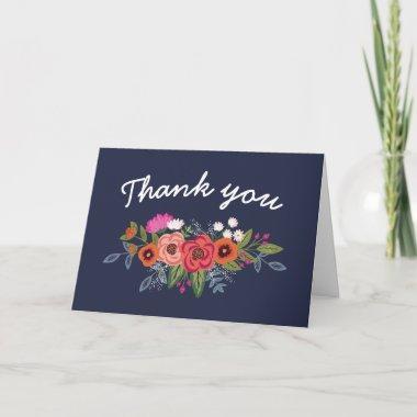Bohemian Bouquet - Navy Blue Thank You