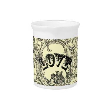 bohemian chic old fashion flourish swirls ornate beverage pitchers