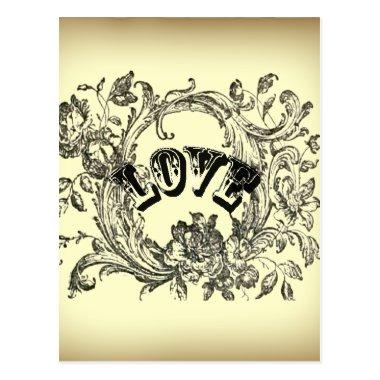bohemian chic old fashion flourish swirls ornate post