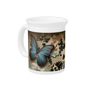 boho chicfloral butterfly vintage Victorian Shoe Pitcher