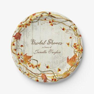Boho Country Rustic Fall Autumn  Paper Plate