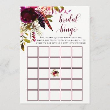Boho Floral | Bridal Shower Bingo Game