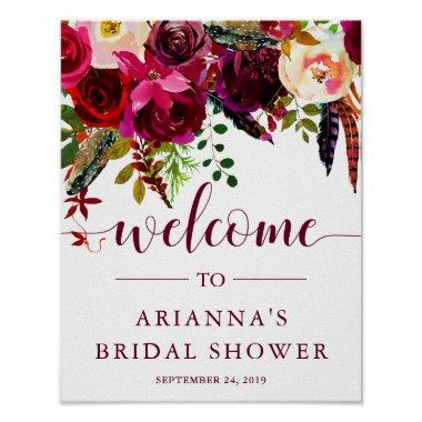 Boho Floral |  Welcome Sign