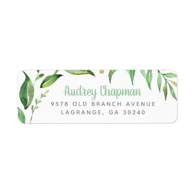 Boho Leaves Personalized Return Address Labels