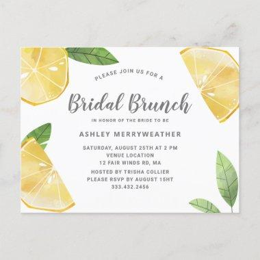 Boho Lemon Citrus And Leaves Bridal Brunch Shower Invitation PostInvitations