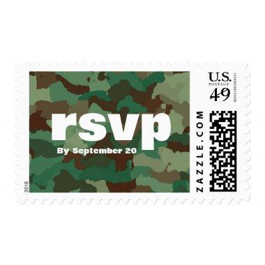Bold Green Military Camo | RSVP Postage