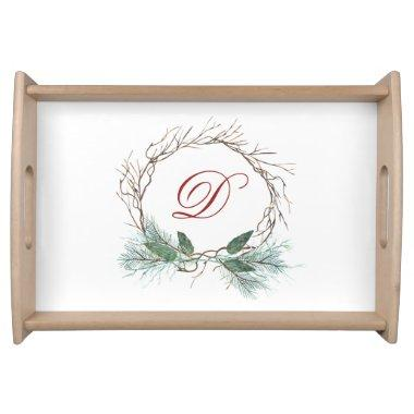 Branches Pine Country Rustic Family Party Custom Serving Tray