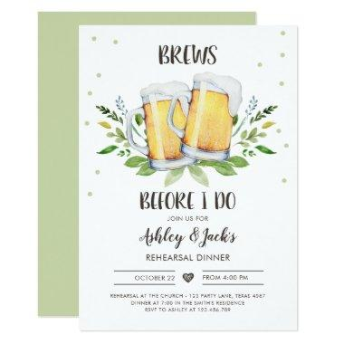 Brews Before I Do Rehearsal Dinner Invitations Coed