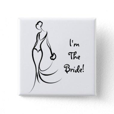 Bridal Accessory-I'm The Bride Pin