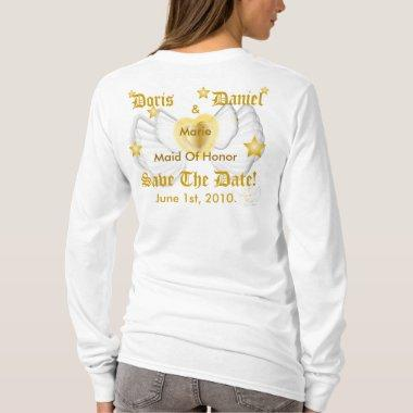 Bridal Angel Maid Of Honor T-Shirt-Customize T-Shirt