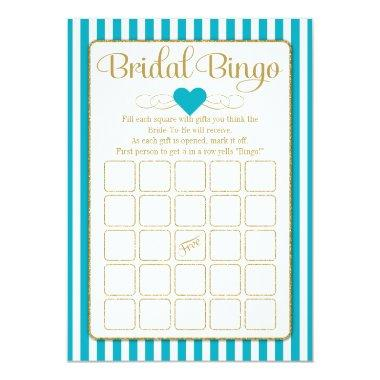 Turquoise bridal shower invitations page 14 unique bridal shower bridal bingo turquoise gold game filmwisefo