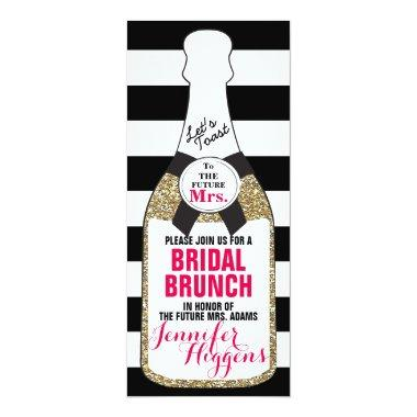 Bridal Brunch Bridal Shower Invitations Champagne