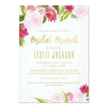 Bridal Brunch Shower  Blush and Gold