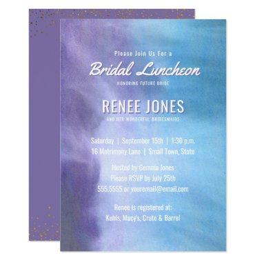 Bridal Luncheon | Pastel Lavender Purple Blue