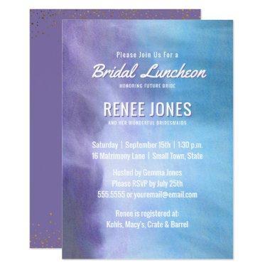 Bridal Luncheon | Pastel Lavender Purple Blue