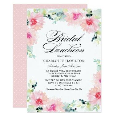 Bridal Luncheon | Spring Daisy Floral Watercolor Invitations