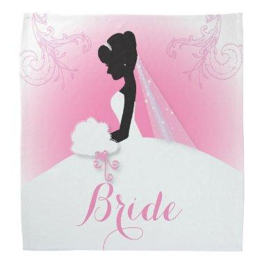 Bridal Mrs Right Pink bride silhouette Bandana