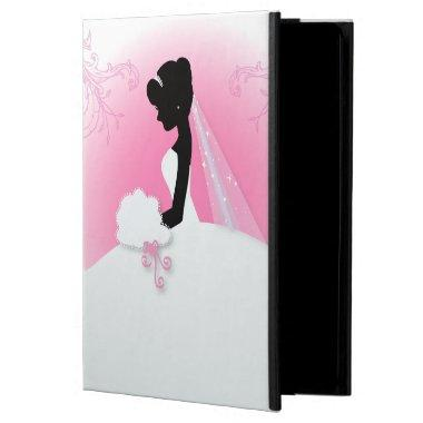 Bridal Mrs Right Pink bride silhouette iPad Air Cover