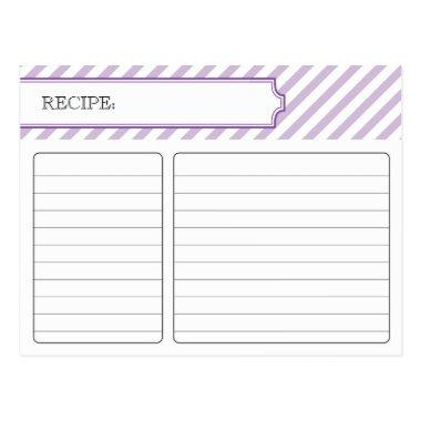 Bridal Recipe Invitations - Purple