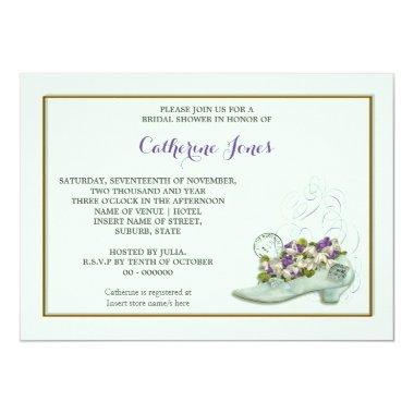 Bridal shoe floral stamp
