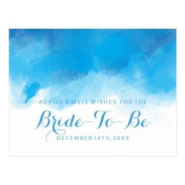 Advice Summer Wedding Blue Watercolo Post