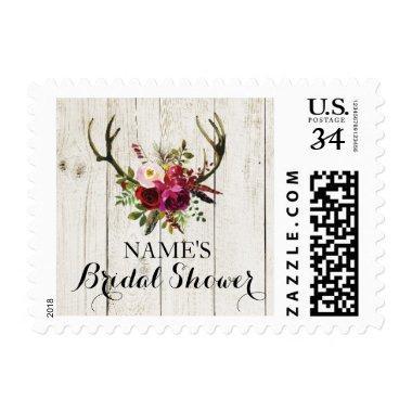 Antlers Floral Rustic Stamps Postage