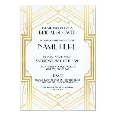 Art Deco 1920's Gold Party Invite