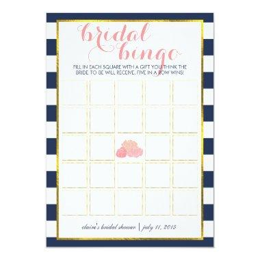 Bridal Shower Bingo Game Invitations | Midnight Peony