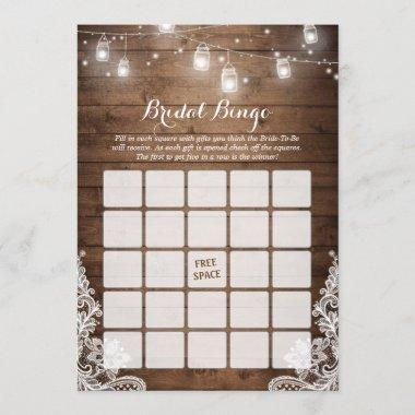 Bingo Game Rustic String Lights Lace