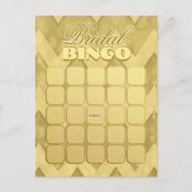 Bingo | Gold Chevron Invitation Post