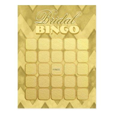 Bingo | Gold Chevron Post