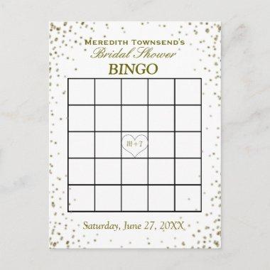 Bingo | Gold Confetti Invitation Post